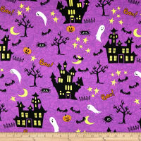 Halloween Haunted House Purple