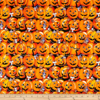 Halloween Pumpkin Stripes Orange/Pmk