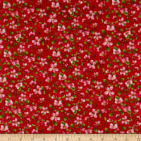 Henry Glass Apple Festival Blooming Vine Red