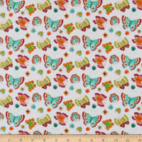 Henry Glass Spring Awakens Butterflies White/Multi