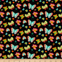 Henry Glass Spring Awakens Butterflies Black