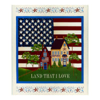 "Henry Glass Land That I Love 36"" Banner Panel Cream"