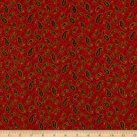 Henry Glass Wit & Wisdom Vintage Paisley Red