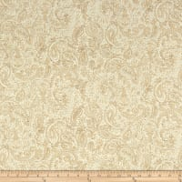 "Henry Glass Spiced 108"" Quilt Back Paisley With Tiny Dots Beige"