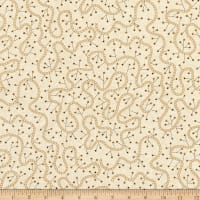 "Henry Glass Spiced 108"" Quilt Back Swirly Vine Beige"