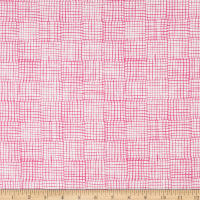 Andover Cats and Dogs Grid Pink