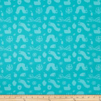 Andover Very Hungry Caterpillar 50th Anniversary VHC Doodle Teal