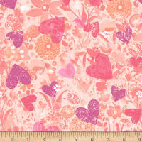 Clothworks Romance Dot Multi Pastel