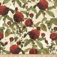 Clothworks Everlasting Rose Toss Cream