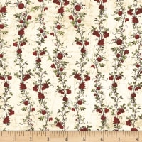 Clothworks Everlasting Rose Stripe Cream