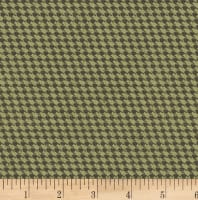 Clothworks Everlasting Rose Plaid Olive