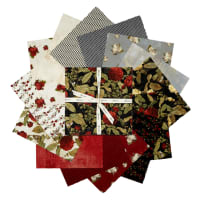 "Clothworks Everlasting Rose 10"" Squares 42 Pcs."