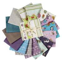 Clothworks Fair Isle Friends Fat Quarter Pack 17 Pcs