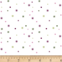 Clothworks Stitch Cats Dot White