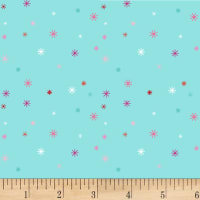 Clothworks Stitch Cats Dot Aqua