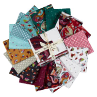 Clothworks Stitch Cats Fat Quarter 16 pcs Pack