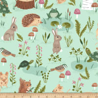 Clothworks Woodland Wander Toss Light Mint