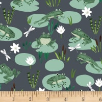 Clothworks Woodland Wander Toss Dark Grey