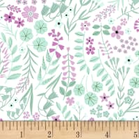 Clothworks Woodland Wander Toss White