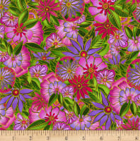 Clothworks Sea Goddess Toss Fuchsia
