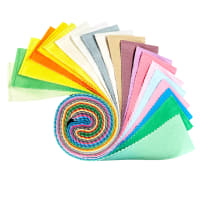"Clothworks Shades Rainbow 2.5"" Strip Rolls 20 pcs."