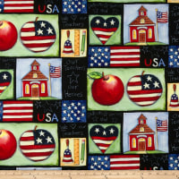 Susan Winget School is Cool Patriotic Patch Eco Canvas Multi