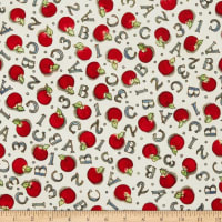 Susan Winget School is Cool A B C Apples Eco Canvas Cream