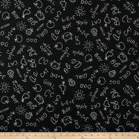 Susan Winget School is Cool Chalk Board Eco Canvas Black