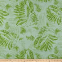 Susan Winget Lakehouse Living Lake Living Ferns Eco Canvas Green