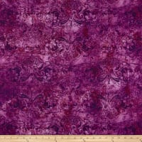 Susan Winget Modern Damask Heavy Linen Purple