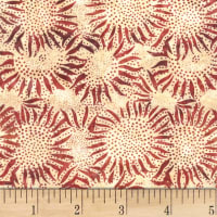 Hoffman Bali Batik Sunflower Barn Red