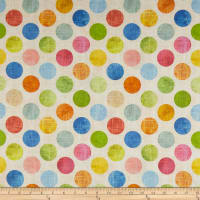"Hoffman Digital All A Twitter 108"" Wide Back Large Dots Citrus"