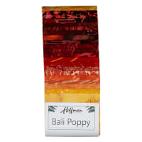 "Hoffman Bali Batik Poppies 3rd Generation 2.5"" Strip Pack Lava"