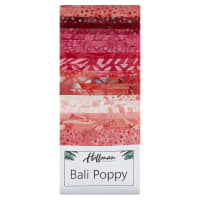 "Hoffman Bali Batik Poppies 3rd Generation 2.5"" Strip Pack Blossom"