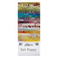 "Hoffman Bali Batik Poppies 3rd Generation 2.5"" Strip Pack Groovy"