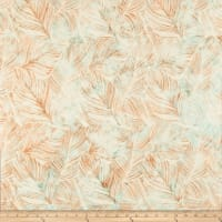 Hoffman Bali Batik Large Leaf Sea Breeze