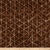 Hoffman Bali Batik Triangle Grid Bark