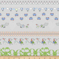 Stof Fabrics Denmark Count On Me Woodland Animals Fresh