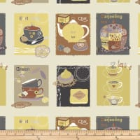 Stof Fabrics Denmark Five O'Clock Tea Tea Blocks Dusty