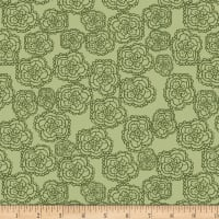 Stof Fabrics Denmark Five O'Clock Tea Lacey Floral Green