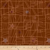 Stof Fabrics Denmark Glimmering Holiday Brown/Copper