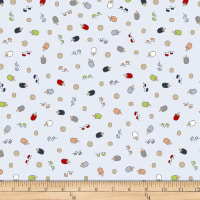 Stof Fabrics Denmark Little Ollie Hedgehogs Blue