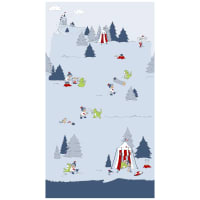 "Stof Fabrics Denmark Little Ollie Woodland 24"" Panel Blue"