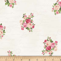 Stof Fabrics Denmark Rosies Garden Writing With Roses Dusty