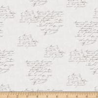 Stof Fabrics Denmark Rosies Summer Writing Grey
