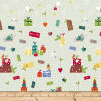 Stof Fabrics Denmark Snow Village Presents Fresh