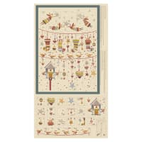 "Stof Fabrics Denmark Sophie Advent Calendar 24"" Panel Dusty"
