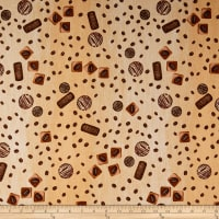 Stof Fabrics Denmark Take A Break Coffee Beans Beige