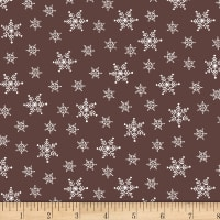Stof Fabrics Denmark Winter Is Coming Snow Flakes Brown