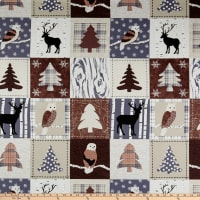 Stof Fabrics Denmark Winter Is Coming Woodland Patch Brown